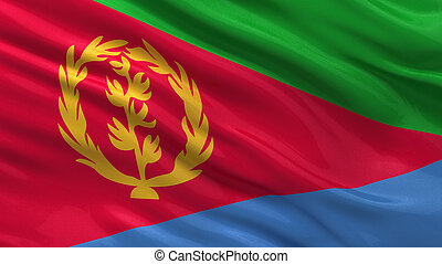 Flag of Eritrea waving in the wind