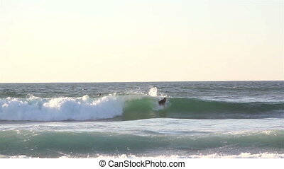 Big waves on the beaches seawater sport surfing - Big waves...