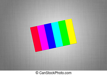 bright color card on the textured background