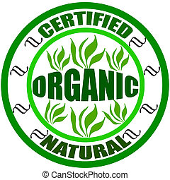 Certified, natural and organic