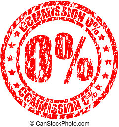 Commission - Stamp with word commission inside, vector...