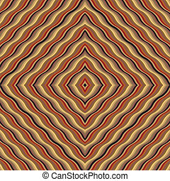 Seamless pattern with rhombus of wavy lines - vector...