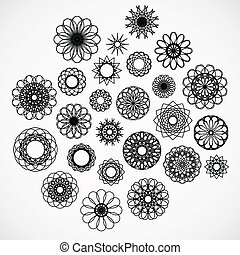 Round Ornament Set - Round ornament set. Vector collection