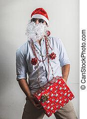 funny santa claus gift box babbo natale - funny santa claus...