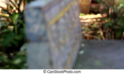 Headstone or a marker bench made in cement - Headstone or a...
