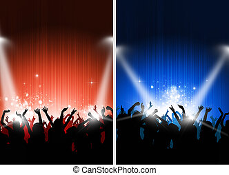 Two Cool Party Posters - set of two party posters with...