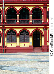 Preserved colonial house, Macau - The preserved colonial...
