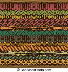 Colorful ethnic seamless pattern - vector illustration