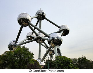 Atomium in Brussels - Exterior view of Atomium in Brussels -...