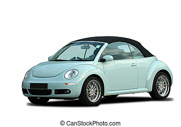 A modern beetle car - A modern model of a beetle car over...