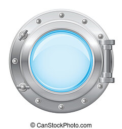 boat porthole vector illustration isolated on white...