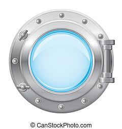 boat porthole vector illustration