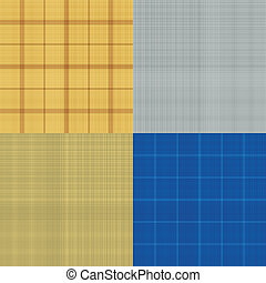 Set of seamless sacking texture - vector illustration
