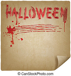 halloween scratched background - vector illustration