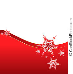 snowflake on a paper background