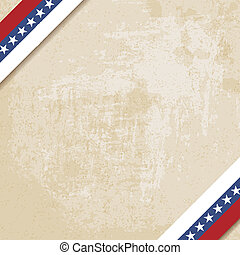 old paper background with striped ribbons - vector...
