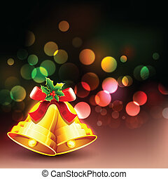 Jingle Bell in Christmas background - illustration of Jingle...