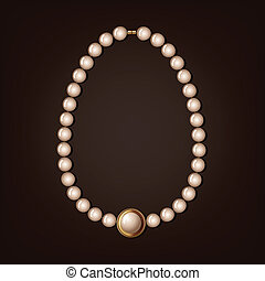 pearl necklace - vector illustration
