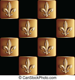 gold seamless pattern the royal lily
