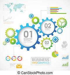 Industrial Infographics Chart - illustration of Industrial...