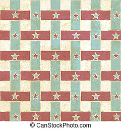 Vintage seamless pattern with stripes and stars - vector...