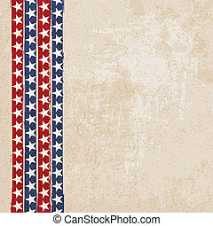 Vintage background with stripes and stars