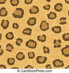 Seamless pattern of leopard skin - vector illustration