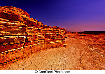 Sunset in Desert on the West Bank
