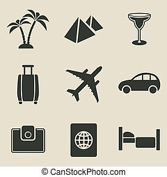 Travel icon set - vector illustration
