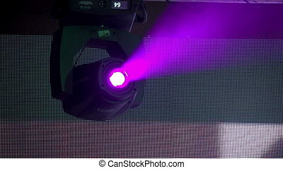 Stage Lighting Equipment - Light show at the concert of rock...