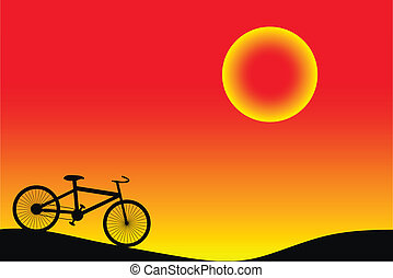 Background with bike.
