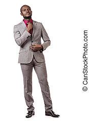confident businessman - Full length portrait of a confident...