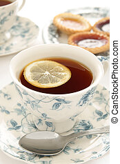 Black Tea with lemon - Black Tea served with a slice of...