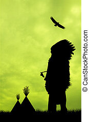 Native American Indian silhouette