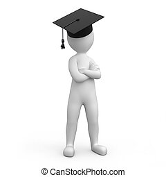 strict graduate, image with a work path