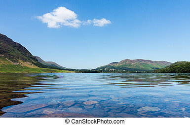 Reflection on Lake District hills in Crummock Water - Mirror...