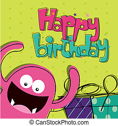 Happy birthday - abstract happy birthday card with special...