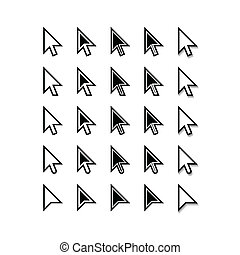 Arrows Cursor Icons Mouse Pointer Set Vector