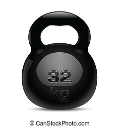 Kettlebell Isolated Vector