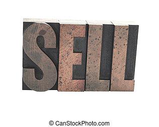 vendere, vecchio, legno, Tipo