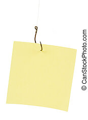 Fishing Hook and Notepaper, Business Concept