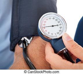 doutor, examinando, paciente