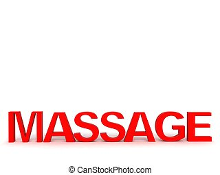 three dimensional red word of massage