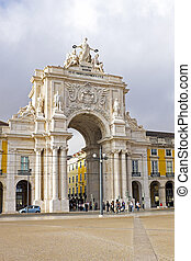 Rua Augusta Arch is a stone, triumphal arch-like, historical...