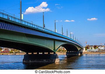 Kennedybrucke (Kennedy bridge) in Bonn, Germany