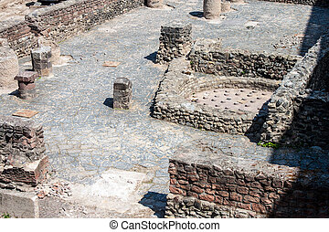 Archaeological site in center of Frankfurt, Germany
