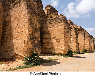 Sahrij Swami and stables in Meknes - Sahrij Swami ruins in...