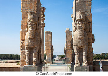 Ruins of ancient Persepolis, Iran. Gate of Nations.