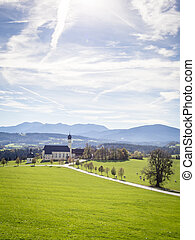 Church Wilparting Bavaria - Pilgrimage church Wilparting in...