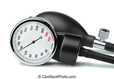 Sphygmomanometer - Close up of sphygmomanometer dial on...